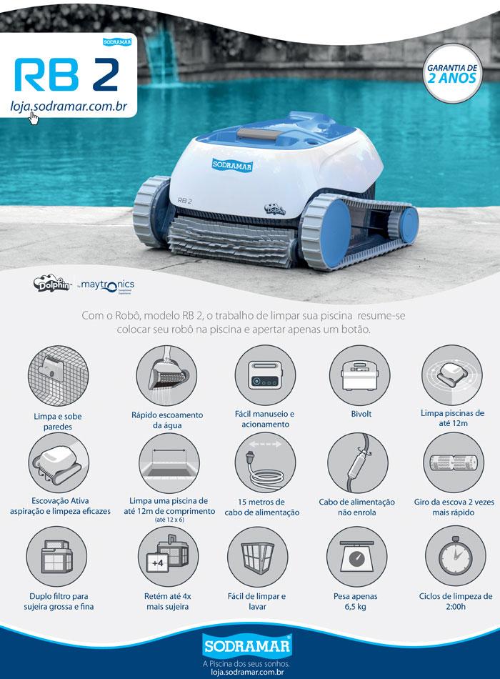 Robô para limpeza Sodramar RB4